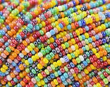 "Czech Glass Seed Beads Size 10/0 "" LUSTER OPAQUE MIX 3 "" 1 Hank"