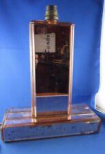 ancienne lampe en glace rosée epoque 1960 vintage biseauté