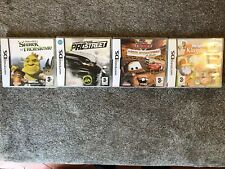 Lot 4 Jeux Nintendo Ds Shrek Need For Speed Cars Disney My Sims