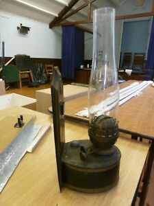 Two Antique Paraffin Wall Lamps with Wicks and Funnels
