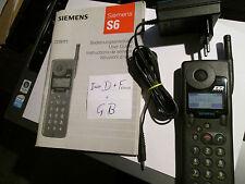 Siemens S6 D  GSM Raität  Heft + Lader D1 + D 2 / klarmobil Art. 7 K