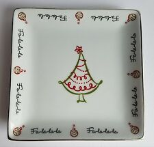 St. Nicholas Square Tis The Season Square Serving Platter Plate Dish Xmas Tree