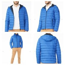 New NWT Armani Exchange AX Mens Hooded DOWN Jacket Coat - BLUE - XXL