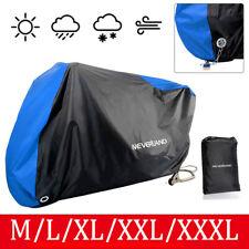M-XXXL Funda Impermeable Protector de Polyester Cubierta para Moto Lluvia Azul