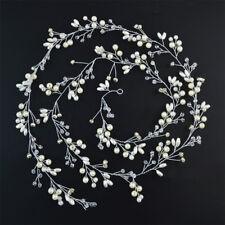 Rhinestone Hair Vine Pearl Beads Wedding Vintage Headpiece Women Headband