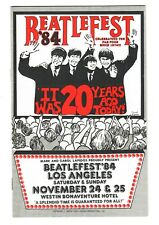 Beatles 1984 Beatlefest Program / Brochure / Order Forms / Catalogue / Mailer