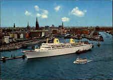 HAMBURG ~1960/70 Schiff Passagier-Dampfer GRIPSHOLM St. Pauli Landungsbrücke AK