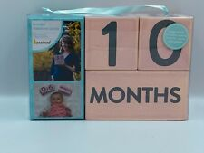 Wooden Milestone Block Set, Count Weeks, Months, Years, and Grades - Brand New