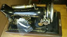 VINTAGE RARE  1950 SINGER PORTABLE  SEWING MACHINE WITH FACTORY WOODEN CASE
