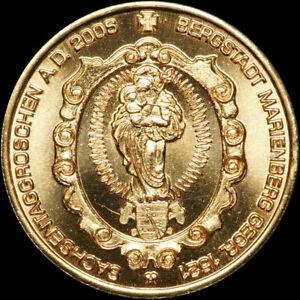 MARIENBERG: Kupfer-Medaille 2006. BERGBAU - SACHSENTAGGROSCHEN - TAG DER SACHSEN