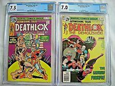 Marvel ASTONISHING TALES #35 CGC 7.5 and #36 7.0 Deathlok Rich Buckler 1976