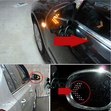 2pcs Car Side Rearview Mirror Arrow Yellow 14SMD LED Turn Signal Indicator Light