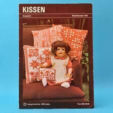 Kissen | Kreuzstich | Verlag für die Frau # 2102 | DDR 1982 C