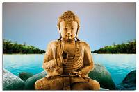 Zen Buddha Lake Large Wall Poster New - Maxi Size 36 x 24 Inch