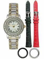 NIB ANNE KLEIN Interchangeable Strap & Bezel Ladies Watch 10-9255INST
