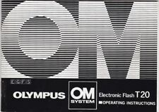 GENUINE OLYMPUS CAMERA OM SYSTEM ELECTRONIC FLASH T20 INSTRUCTIONS MANUAL