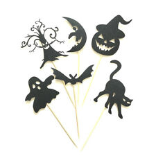 6pcs Halloween Cake Toppers Ghost/Pumpkin/Bat Food Picks Halloween Party Deco Kh