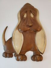 Vintage Floppy Ear Dog Hound Metal Wall Hanging Casting - Sexton 1967