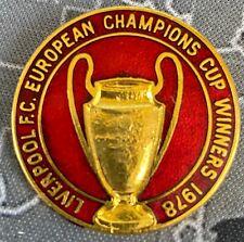 Liverpool 1978 European Cup Winners Enamel Pin Badge