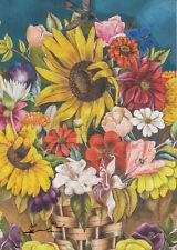 Postkarte / Kunstkarte: Frida Kahlo - Der Blumenkorb