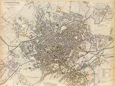 Map of Birmingham England West Midlands 1839, Reprint 10x8 Inch