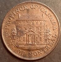 Province of Canada 1842 Bank of Montreal Half Penny Choice Uncirculated! FREE SH
