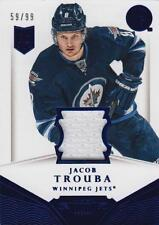 13-14 Dominion Authentic Materials JERSEY xx/99 Made! Jacob TROUBA - Jets Rookie