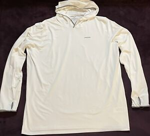 Patagonia White Shirt Long Sleeve Hooded XXL 2XL