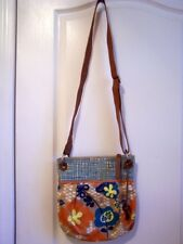 FOSSIL KEYPER MULTI FLORAL COATED CANVAS CROSS BODY BAG PURSE