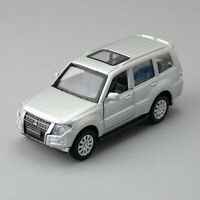 1:43 Mitsubishi Pajero 4WD SUV Model Car Diecast Toy Vehicle Pull Back Silver