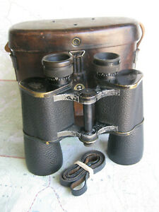 Rare Carl Zeiss, Jena 12x40 binoculars, Teleduz with case #266749 ~ 1912