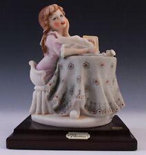 Vtg G. Armani Capodimonte Florence Italian Daydreaming Girl w Diary Figurine