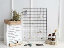 NEW Multi-Function Metal Mesh Grid Panel Decor Photo Wall Art Display Organizer