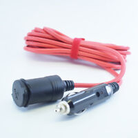 1pc Red 3.6M 18AWG Car Cigarette Lighter 12V Male to Female Extension Cable