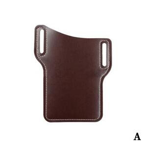 Fashion Leather Waist Belt Loop Cellphone Phone Protection Bag Holster x J5M8