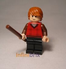 Lego Ron Weasley from set 4841 Hogwart Express Red Tartan Top Harry Potter hp113