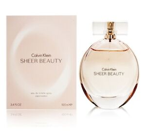 Calvin Klein Sheer Beauty For Women Eau de Toilette 3.4 oz ~ 100 ml EDT Spray