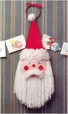 Father Christmas Wall Decoration DK Vintage Knitting Pattern
