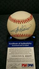 Stan Williams autographed NL Coleman baseball. PSA authenticated.