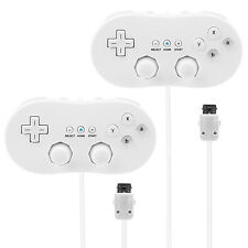 2 Pack Wired Classic Controller Game Pad For Nintendo Wii Remote White US Ship