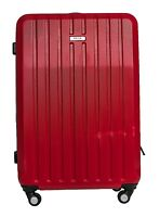 """Kenneth Cole Reaction 26"""" Molded Hardside Red Suitcase 6777"""