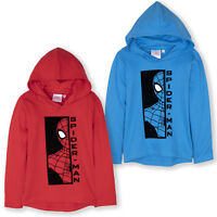 Spiderman Character Boys Long Sleeve Top T-Shirt Hoodie Hooded Cotton 2-8 years