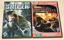 Sniper Elite & sniper path of vengeance 2 pc jeux collection FSK 18