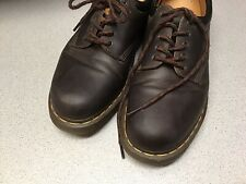Dr. Martens Shoes 11 Mens Brown Leather Lace Up Air Wair Low Top Cushion Insole