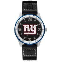Mens New York Giants NYG NFL Football Team Player Series Sparo Black Wrist Watch