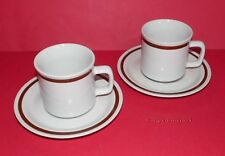 COUNTRY LIVING Collection * 2 Stoneware Cups & Saucers * Autumn Gold Design *
