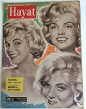 Marilyn Monroe 1961 Hayat Turkish Magazine 3 Heads Let's Make Love Rare Cover