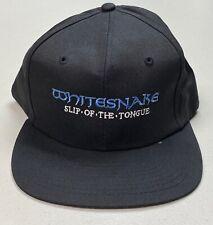 Vintage Whitesnake Slip of the Tongue 1990 Concert Tour Snapback Flat Brim Hat