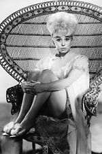 Barbara Windsor Full Length In Neglige Sitting On Chair 1965 11x17 Mini Poster