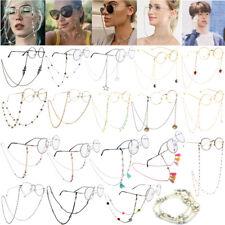 Lengthened Crystal Chain Hanging Neck Eyeglasses Holder Cord Strap Rope Necklace
